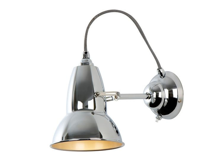 The Anglepoise Original 1227 Wall Lamp has an adjustable retroshape shade, complete with switch built into the base.