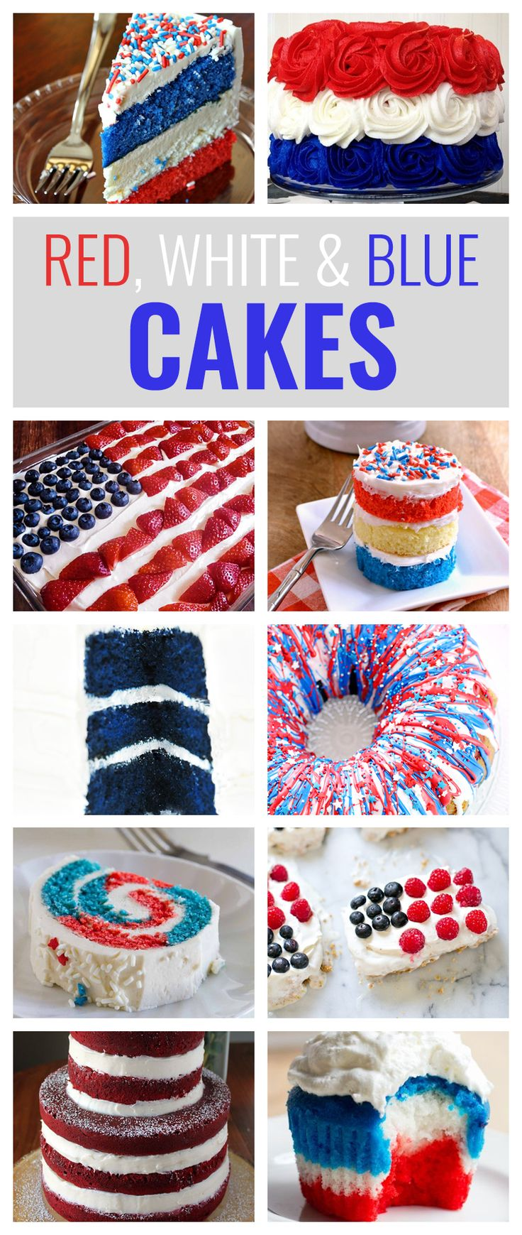 10 Red, White and Blue Cakes You'll Love to Make This Fourth of July  Cake is great. Themed cake is even better.  Summertime in America is all about patriotism with Independence Day. Celebrating the Fourth of July with a patriotic, red, white & blue cake