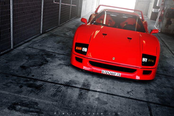 Ferrari F40 by Alexis Goure, via 500px