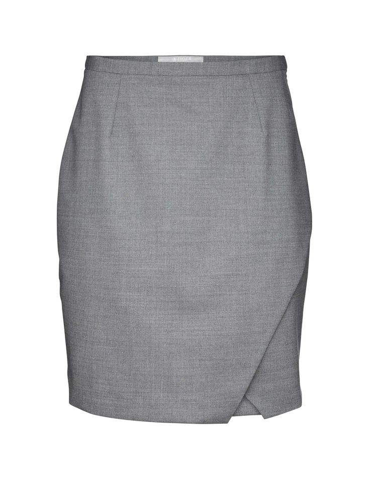 Tiger Of Sweden: Sus skirt - Women's short skirt in wool-stretch. Fully lined with overlap. Slim fit with high waist.