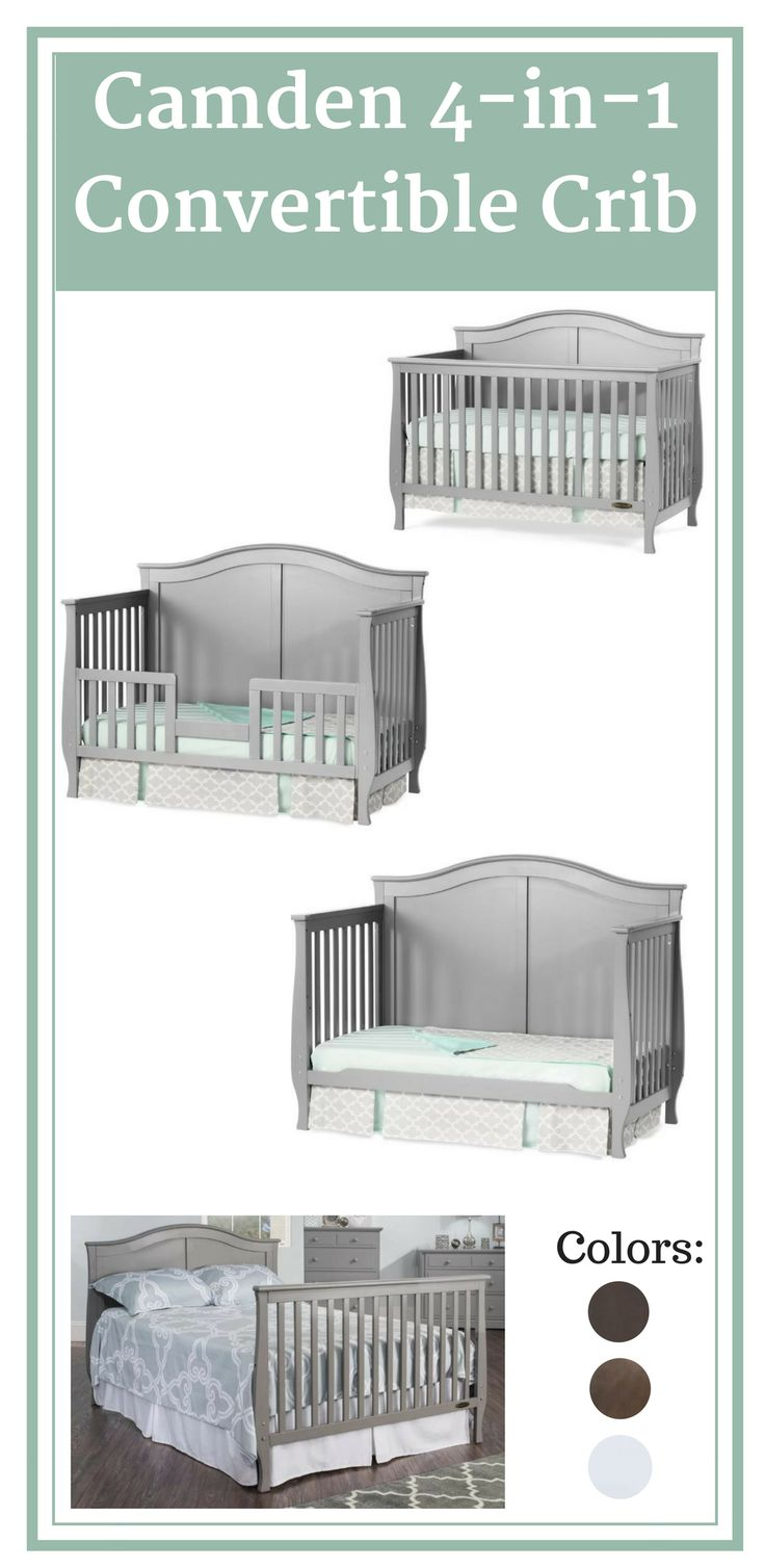 Love this versatile crib that grows along with your child. Budget friendly and convenient. Crib converts to a daybed, full size bed and toddler bed.