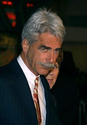 Sam Elliott....my 3rd husband.....we was at a dinner....that's me smiling at him when we was leaving