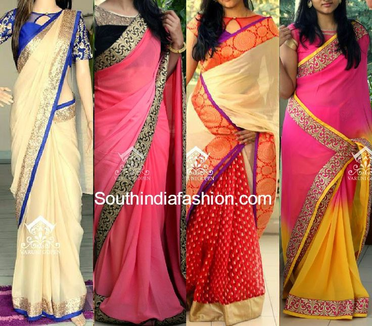 Beautiful designer sarees by Varuni Gopen Collection. For inquiries and orders contact: varunigopen@gmail.com whatsapp @ 9849125889 Related PostsDesigner Sarees with Readymade BlousesStylish Half and Half Designer SareesPen Kalamkari SareesParty Wear Designer Sarees
