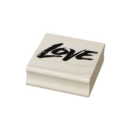LOVE Zen Brush Valentine Calligraphy Lettering Rubber Stamp - calligraphy gifts custom personalize diy create your own