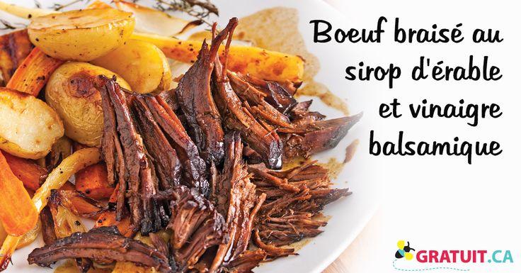 Ce bœuf braisé fond littéralement en bouche! Servez-le avec des légumes racines caramélisés pour une assiette appétissante et bien c