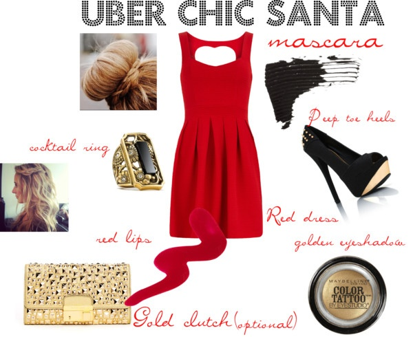 """""""Uber Chic Santa"""" by sdfashionstylist on Polyvore"""