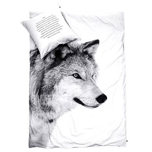By Nord Cot Doona Cover - Wolf