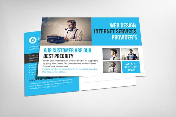 Check out Business Solution Postcard Template by Corporate Flyers ...