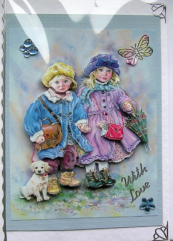A Windy Day HandCrafted 3D Decoupage Card With by SunnyCrystals, £1.85