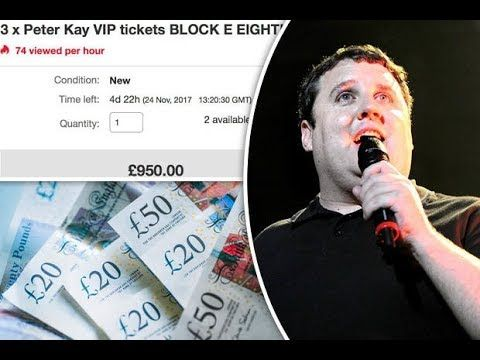 Fury as touts selling Peter Kay tour tickets for 1000 a seat
