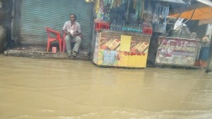 Meerut street turns into a river. CJ Roy sent this pic.