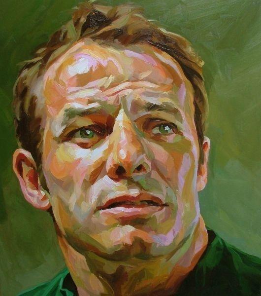 Paul Wright: Ausitn Healey oil on canvas 90 x 100cm