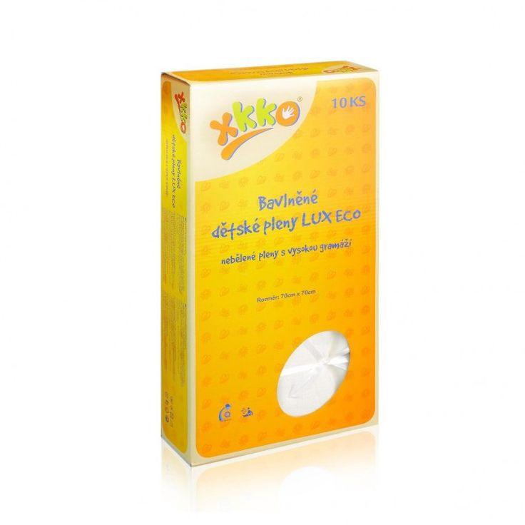 BAVLNĚNÉ PLENY | 70x70 | natural | Bavlněné dětské pleny XKKO LUX ECO 70x70 cm - nebělené |