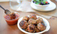 Turkey Meatballs with Sweet and Sour Sauce