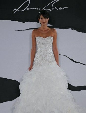 Sweetheart Mermaid Wedding Dress  with Asymmetric Waist in Organza. Bridal Gown Style Number:32286916