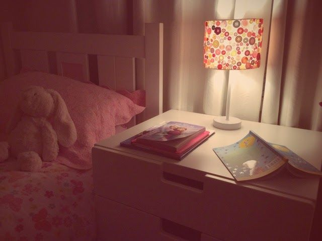 A special lamp. For two cute girls who can't resist silliness at bedtime. A how to.