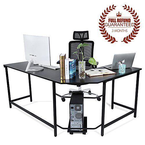 Fantastic Ej Life L Shaped Corner Computer Desk Computer Office Large Home Interior And Landscaping Palasignezvosmurscom