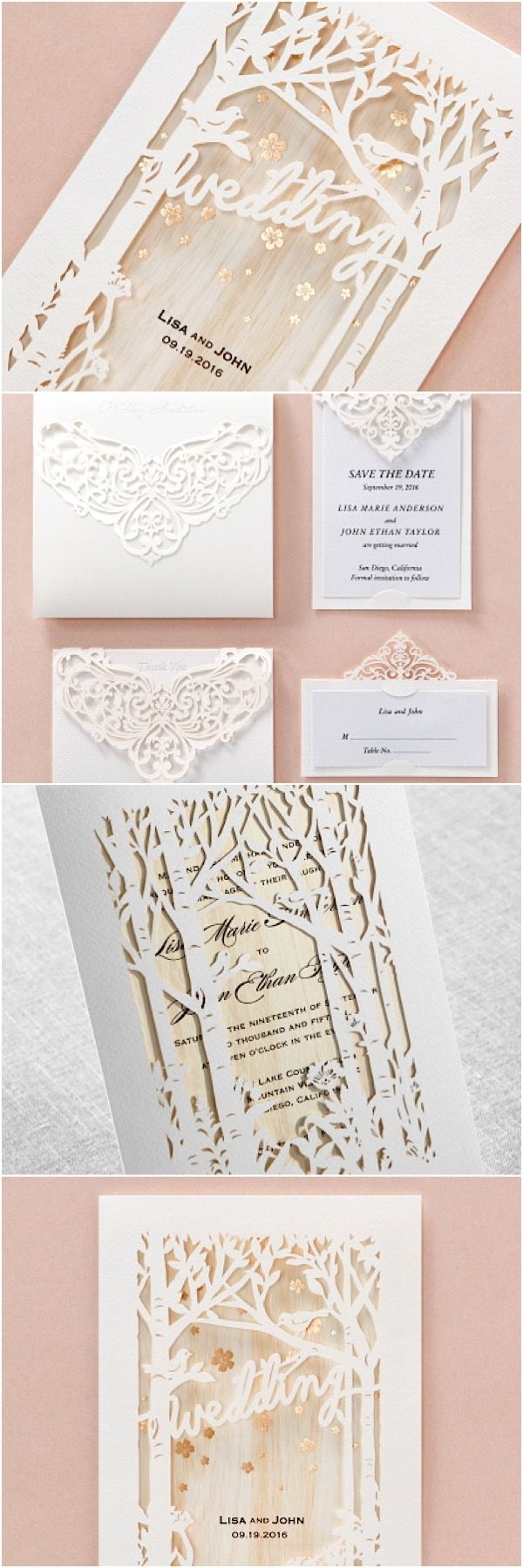 Chic and unique wedding invitations from Bweddinginvitations