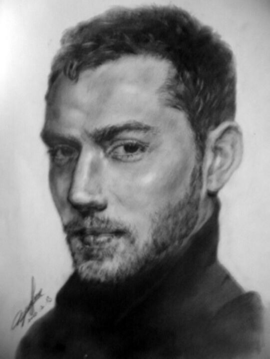 Pencil Sketch _ Jude Law