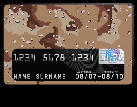 """""""Desert Camo"""" credit card cover by #creditcovers $9.99"""