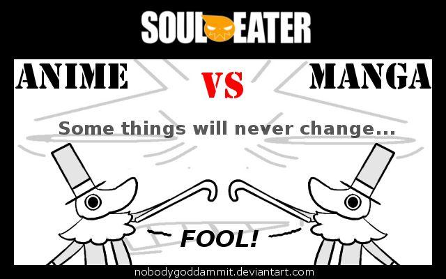Soul Eater Anime vs. Manga : Excalibur by nobodygoddammit on DeviantArt