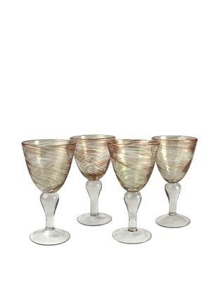 65% OFF Artland Set of 4 Shimmer 12-Oz. Goblets (Clear)