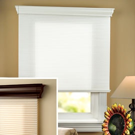 venice cordless shades includes a cornice and can be mounted inside or