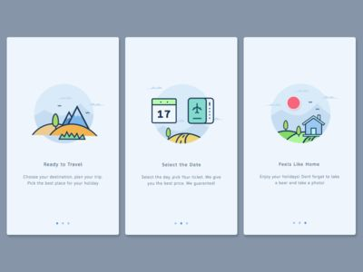 User Onboarding Screens  by Anggit Yuniar Pradito