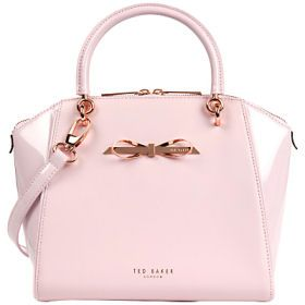 Leather Pailey Bow Tote Bag by Ted Baker