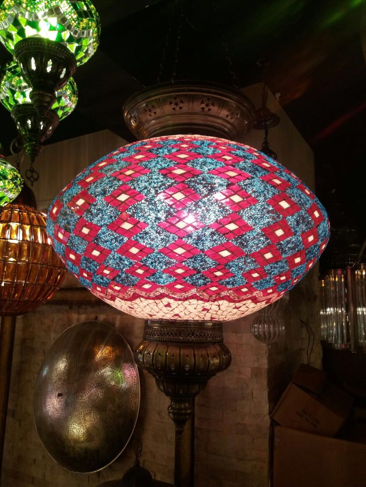 LARGE MOSAIC CHANDELIER
