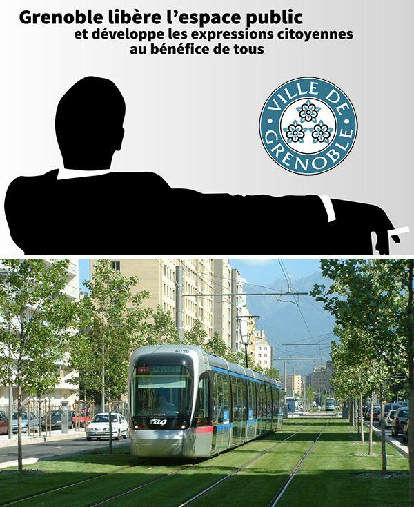 Dalla pubblicità all'espressione pubblica. Grenoble libera la città dai messaggi commerciali (e al loro posto pianta alberi).  #ProgettazionePartecipata e alternativa su @marraiafura