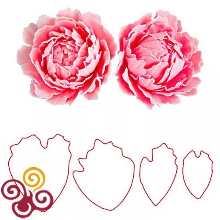счастлива шаблон для розы из вафельной бумаги выделила