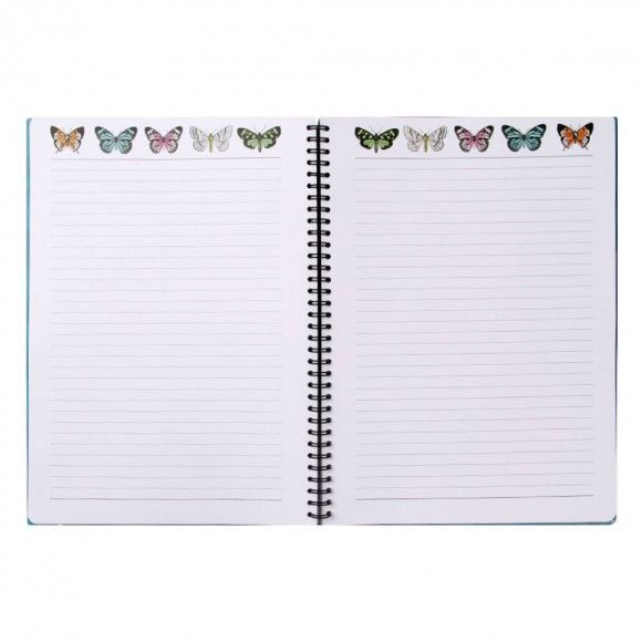 Wild Blossom A4 slim ruled notebook