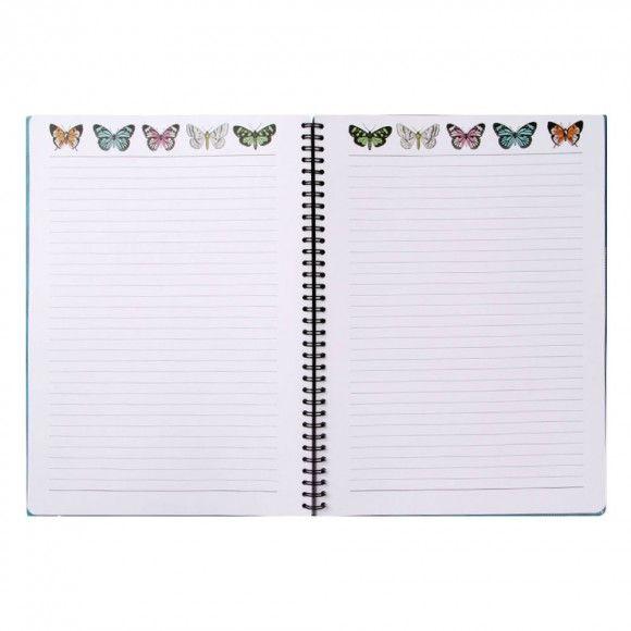 Wild Blossom A4 slim ruled notebook
