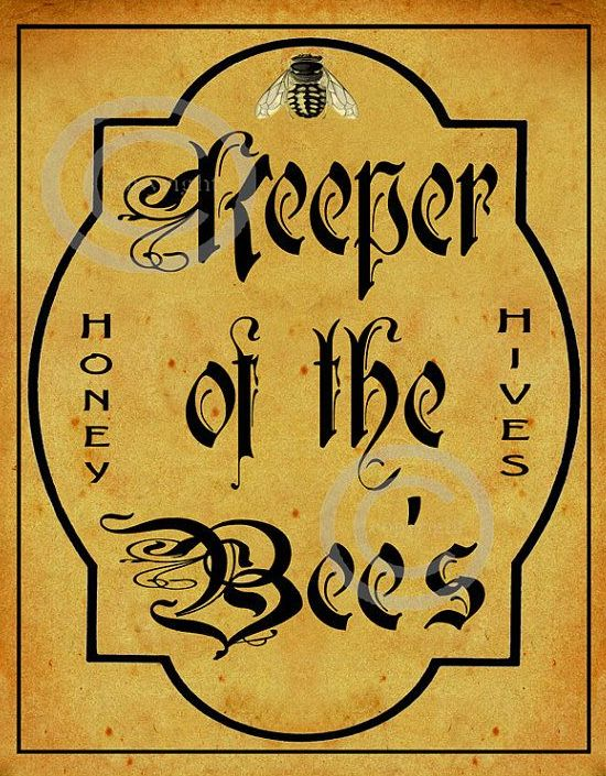 ≗ The Bee's Reverie ≗ Whimsical Bee Keeper Sign by DragonflyMeadowsArt on Etsy