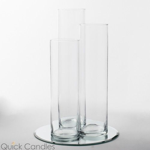 "Eastland 12"" Mirror and Tall Cylinder Vase Centerpiece Set of 36"