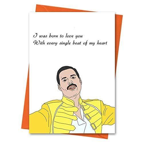 funny anniversary card freddie mercury funny love card