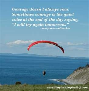 """""""I will try again tomorrow"""": Bible Quotes, Courage,  Chute, Fit Motivation, Inspiration Quotes, Quotes About Life, Helen Keller, Parachutes, Strong Woman"""