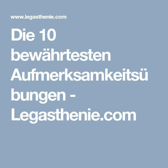 Die 10 bewährtesten Aufmerksamkeitsübungen - Legasthenie.com