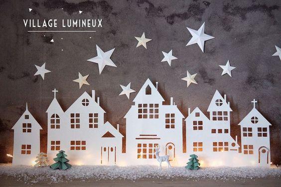 Vind jij kerstdorpjes ook zo leuk maar vrij prijzig? Maak dan zelf leuke dorpjes met papier...8 ideetjes en patronen! - Zelfmaak ideetjes