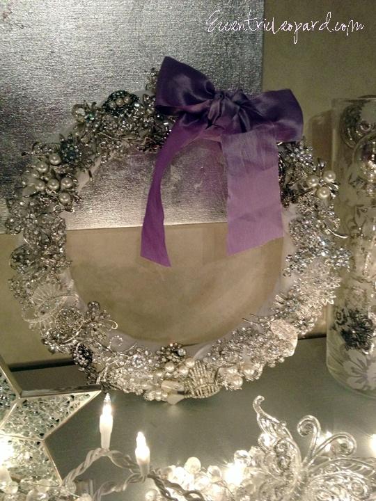 Vintage Brooch Christmas Wreath