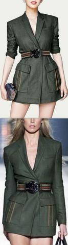 Belted Tailored Blazer