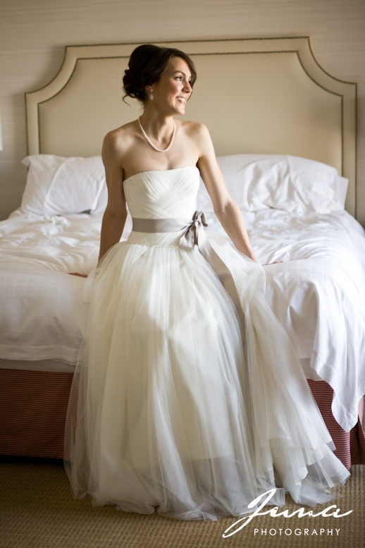 """Shannon! Married May 26th 2012 wearing Vera Wang """"Delaney"""". Photograhed by Juna Photography, and featured on the Juna Photography Blog!"""