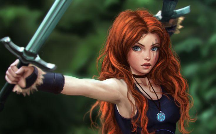 fantasy Art, Celtic, Warrior, Redhead, Sword, Orig… – #art #celtic #fantasy #O…