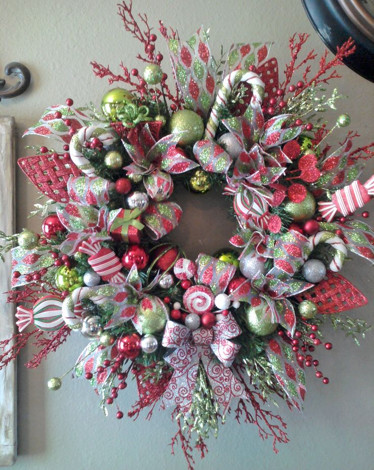 Brightly Colored Christmas Wreath