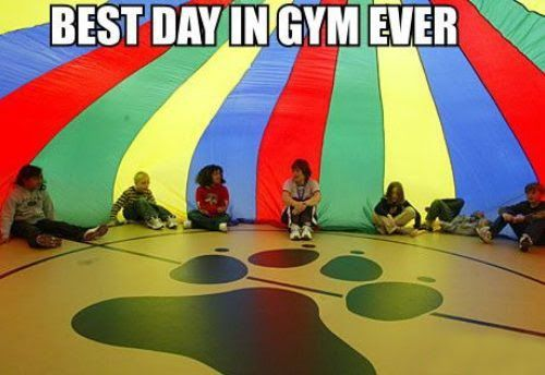 Okay, I didn't actually HAVE this when I was a kid, but it was one of my favorite activities during grade school PE.