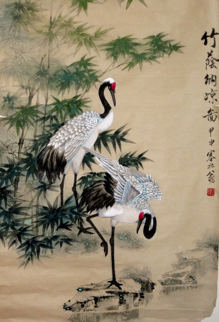 Color in japanese art - Japanese Crane Pencil Drawing Google Search
