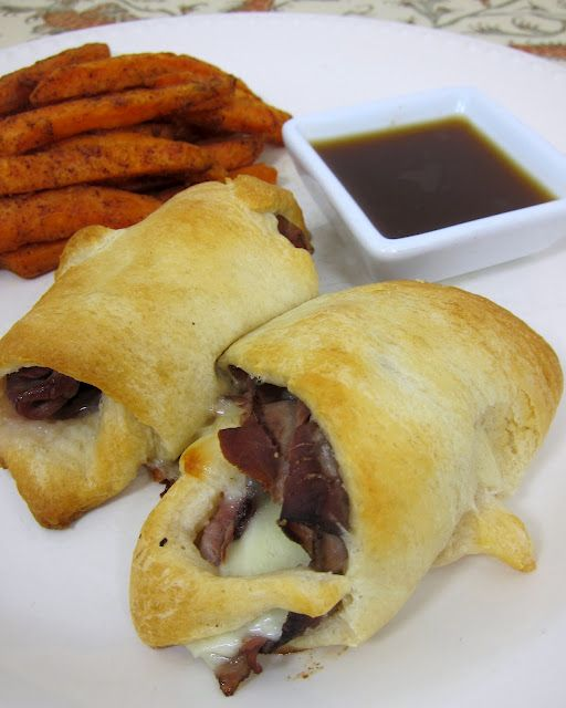 French Dip Cresents - These look amazing.