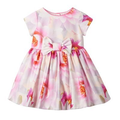 Baker by Ted Baker Babies light pink floral dress- at Debenhams.com