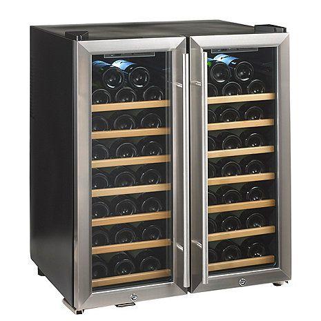 Silent 48 Bottle Double Door Dual Zone Wine Refrigerator